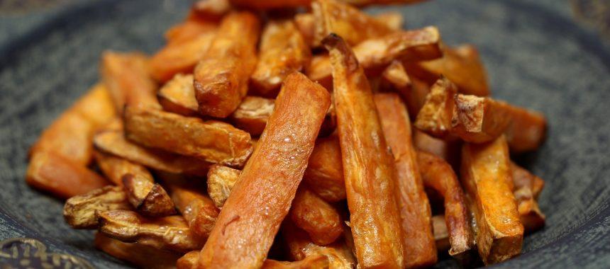 Gebakken lucht: zoete aardappels